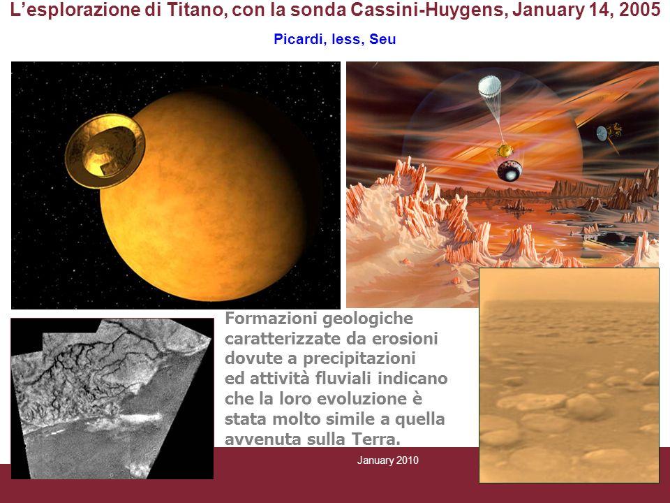 January 2010 CRAS SapienzaPage 9/6 Lesplorazione di Titano, con la sonda Cassini-Huygens, January 14, 2005 Picardi, Iess, Seu Formazioni geologiche ca