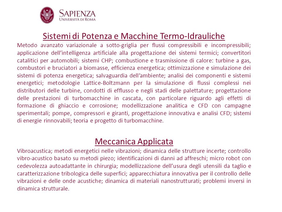 Sistemi di Potenza e Macchine Termo-Idrauliche Metodo avanzato variazionale a sotto-griglia per flussi compressibili e incompressibili; applicazione d