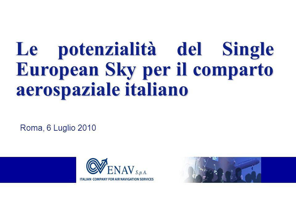 Le potenzialità del Single European Sky per il comparto aerospaziale italiano Roma, 6 Luglio 2010