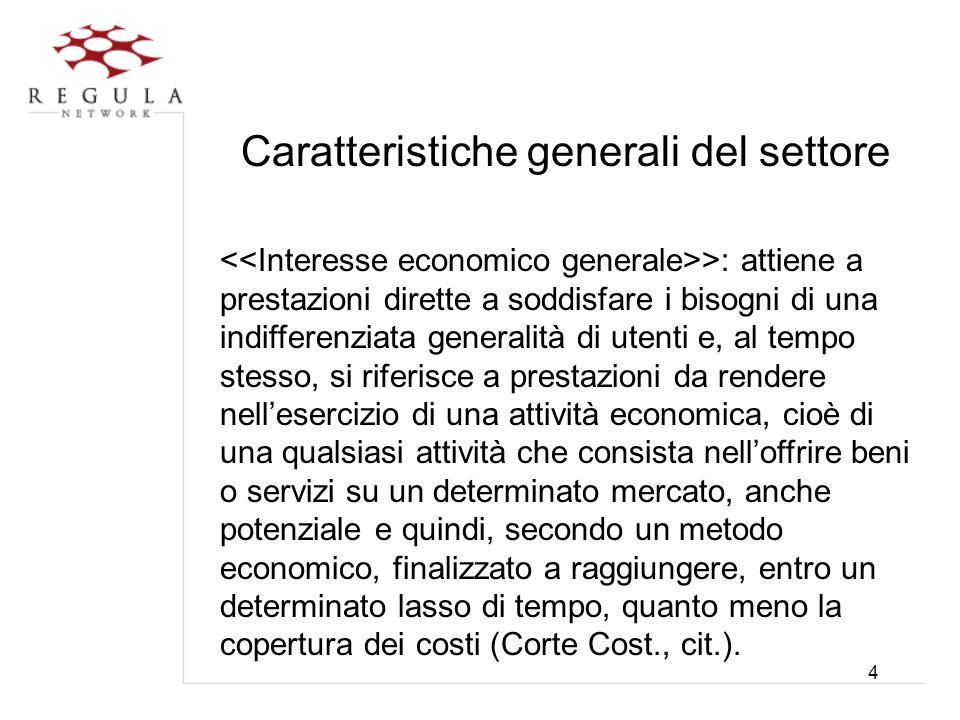 5 Caratteristiche generali del settore Si tratta dunque di una nozione oggettiva di interesse economico, riferita alla possibilità di immettere una specifica attività nel mercato corrispondente, reale o potenziale.