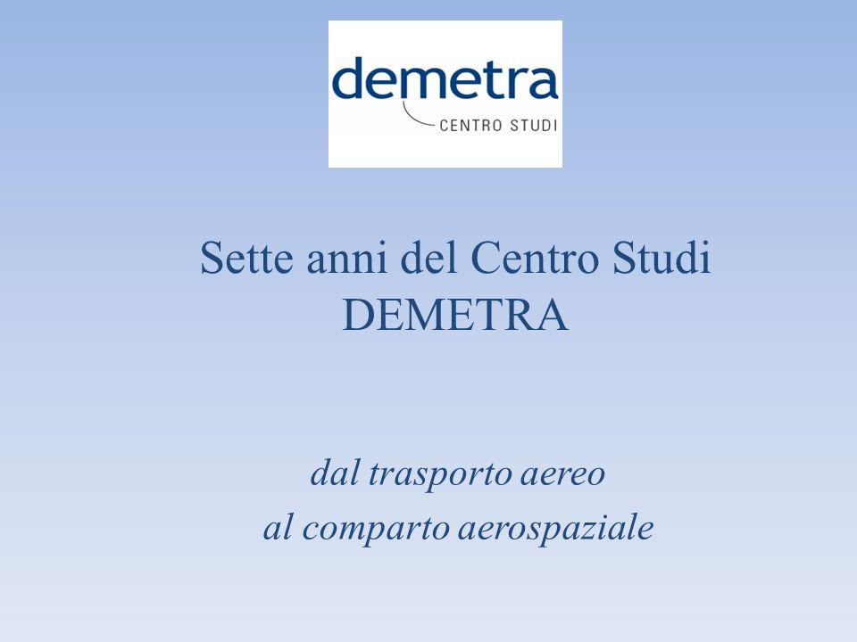 2006: Nasce il Centro studi DEMETRA Il 10 maggio 2006, in coincidenza con lelezione del Presidente Napolitano, presso lAvvocatura Generale dello Stato, con il primo convegno Demetra, viene presentato il libro dellAvv.
