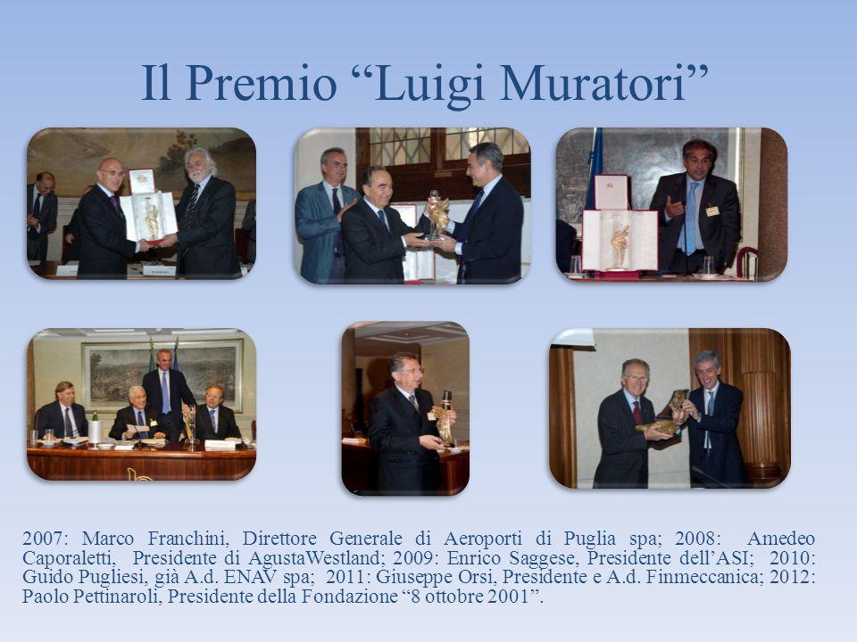 Il Premio Luigi Muratori 2007: Marco Franchini, Direttore Generale di Aeroporti di Puglia spa; 2008: Amedeo Caporaletti, Presidente di AgustaWestland;