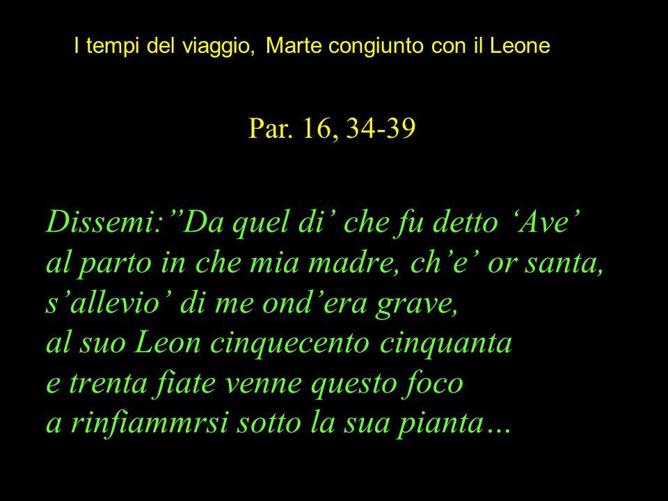 Dissemi:Da quel di che fu detto Ave al parto in che mia madre, che or santa, sallevio di me ondera grave, al suo Leon cinquecento cinquanta e trenta f