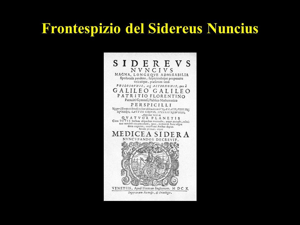 23 Frontespizio del Sidereus Nuncius
