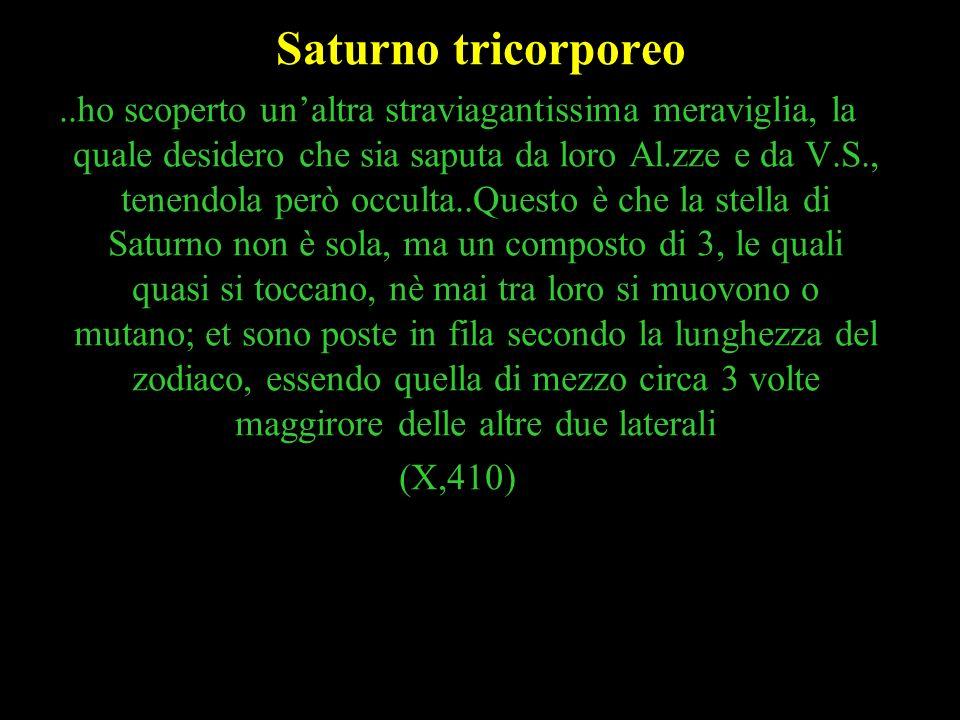 44 Saturno tricorporeo..ho scoperto unaltra straviagantissima meraviglia, la quale desidero che sia saputa da loro Al.zze e da V.S., tenendola però oc