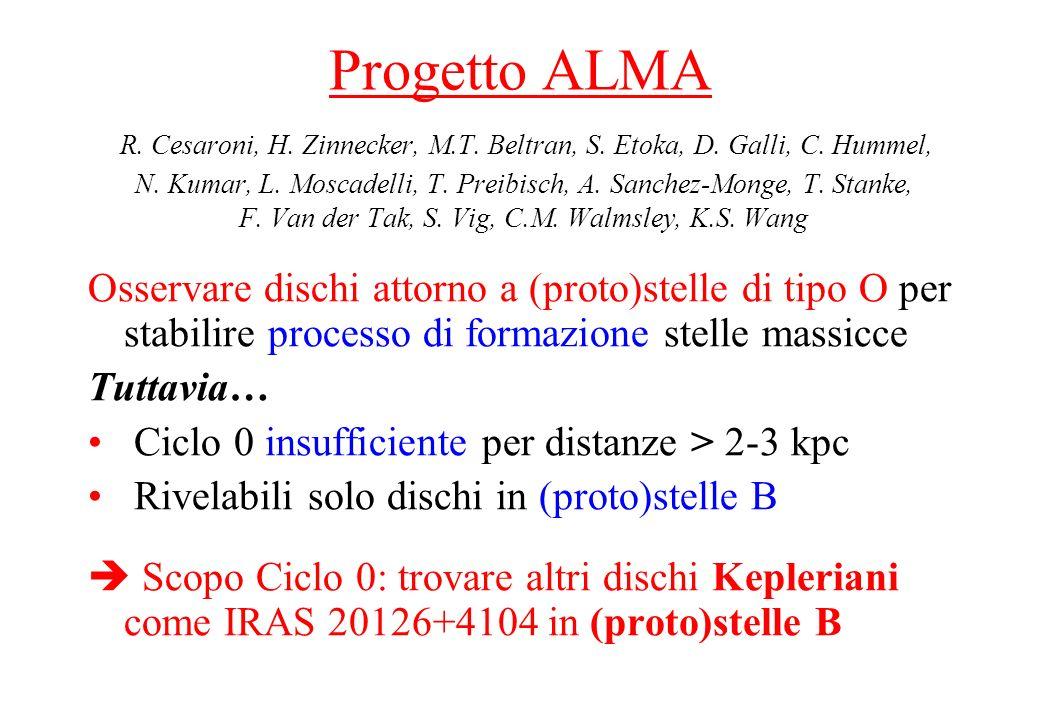 Progetto ALMA R. Cesaroni, H. Zinnecker, M.T. Beltran, S. Etoka, D. Galli, C. Hummel, N. Kumar, L. Moscadelli, T. Preibisch, A. Sanchez-Monge, T. Stan