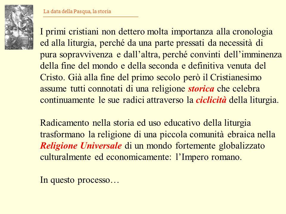 Il calendario gregoriano Lastronomia Formella del campanile di Giotto a Firenze p/q = 97/400 = 0,2425 Il calendario gregoriano deriva da quello giuliano mediante labolizione di tre anni bisestili ogni 400 anni Durata media = (365*303 + 366*97)/400 = 365,2425 = 365.2425 - 365.2422= 0.0003 [giorni/anno] 1 = XX = 1/0.0003 = 3333.3 [anni] A causa dellattuale diminuzione della durata dellanno tropico, linizio delle stagioni arretra di un giorno ogni 2400 anni