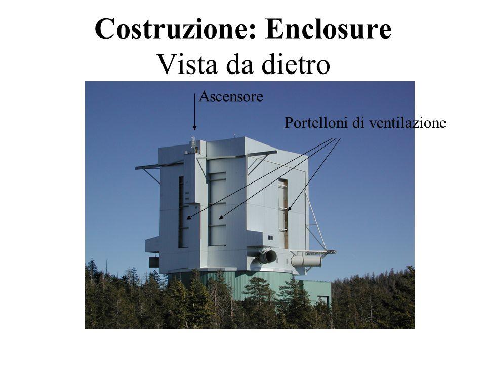 Costruzione: specchi primari Il primo sbozzo, allapertura della fornace allo Steward Observatory