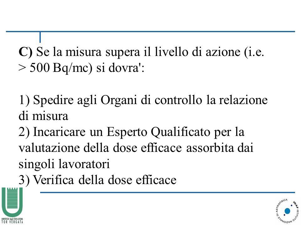 C) Se la misura supera il livello di azione (i.e.