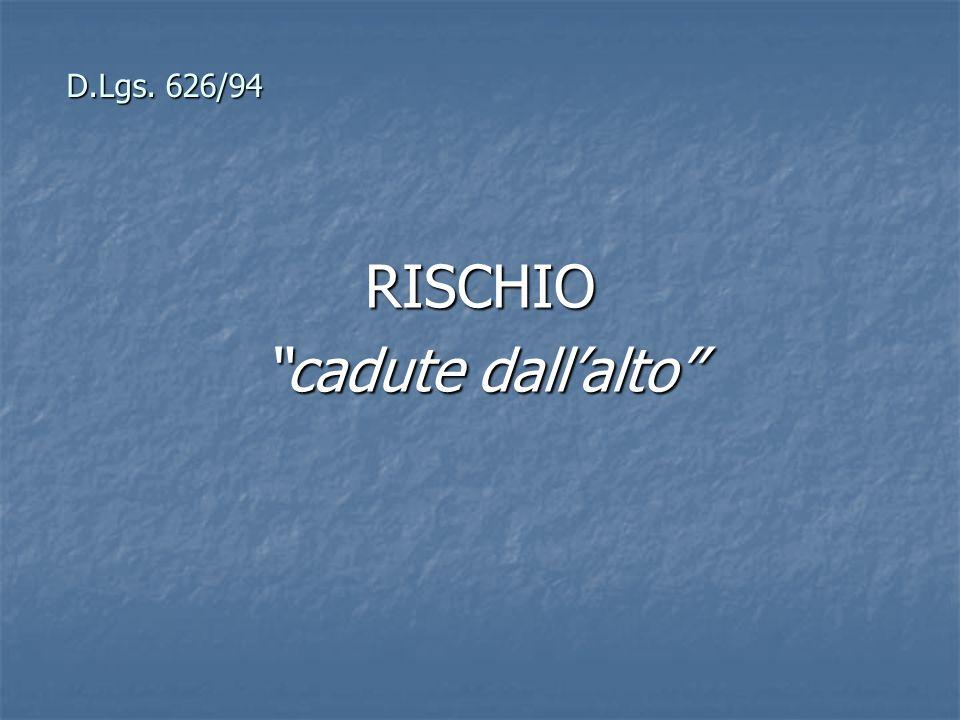 D.Lgs. 626/94 RISCHIO cadute dallalto