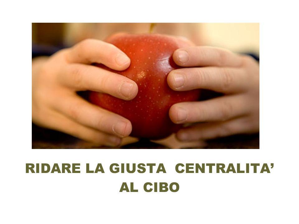 RIDARE LA GIUSTA CENTRALITA AL CIBO
