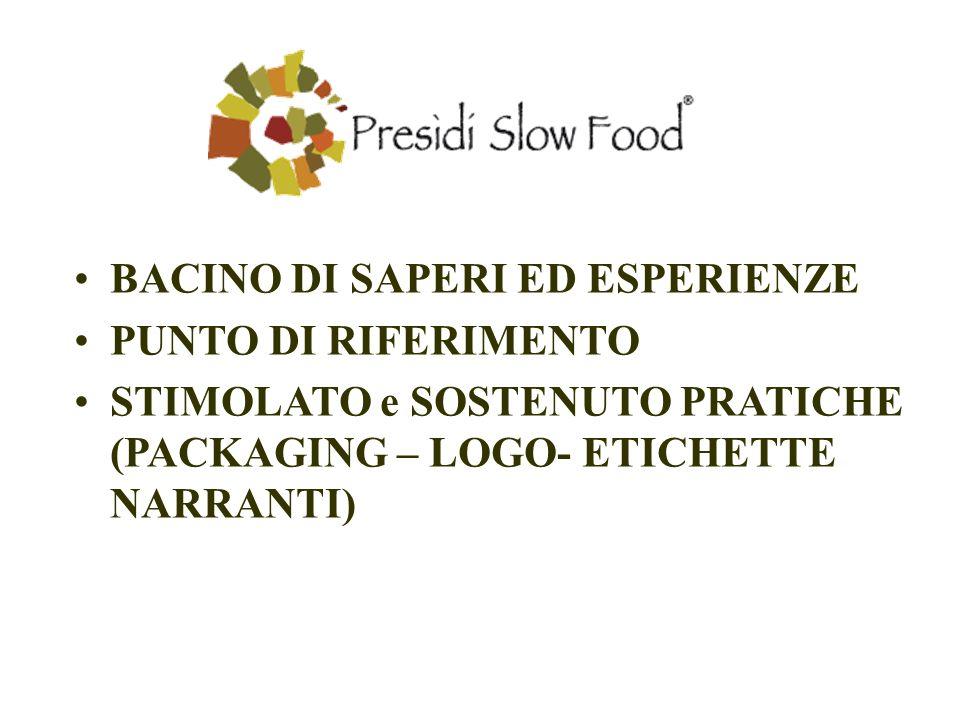 BACINO DI SAPERI ED ESPERIENZE PUNTO DI RIFERIMENTO STIMOLATO e SOSTENUTO PRATICHE (PACKAGING – LOGO- ETICHETTE NARRANTI)