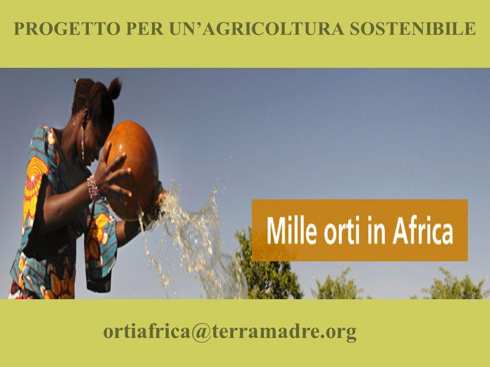 PROGETTO PER UNAGRICOLTURA SOSTENIBILE ortiafrica@terramadre.org