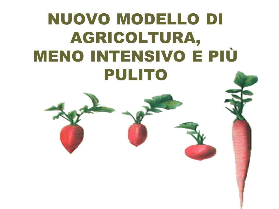 NUOVO MODELLO DI AGRICOLTURA, MENO INTENSIVO E PIÙ PULITO