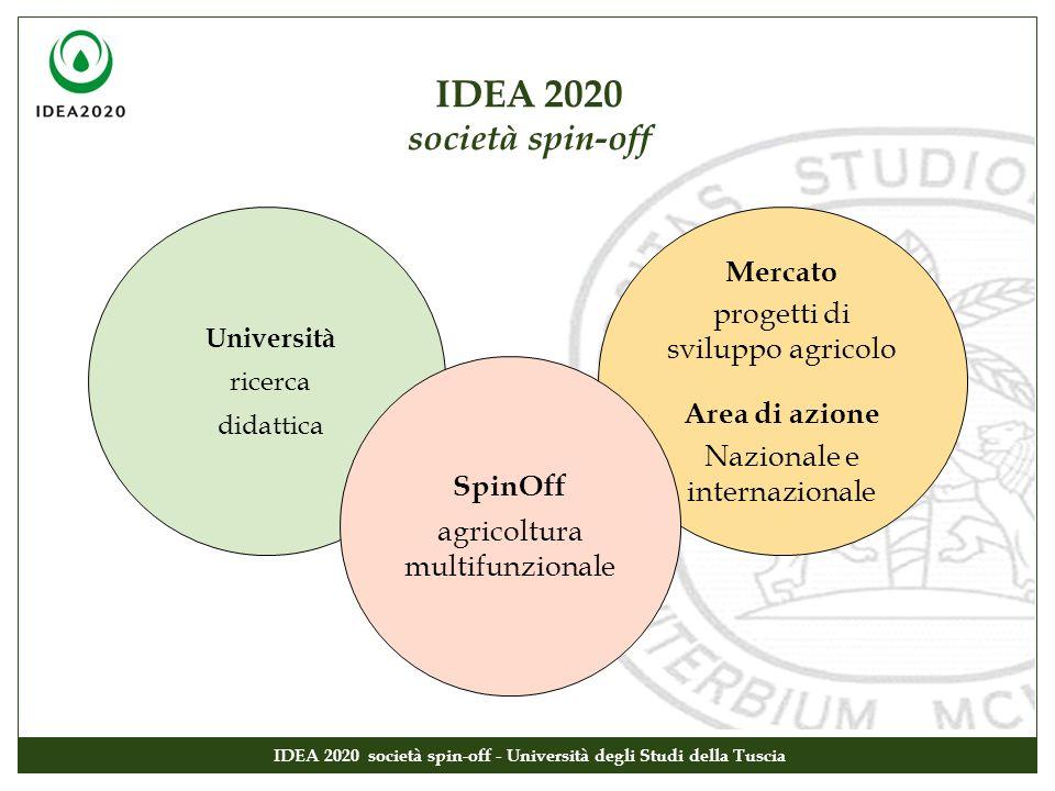 IDEA 2020 società spin-off IDEA 2020 società spin-off - Università degli Studi della Tuscia Università ricerca didattica Mercato progetti di sviluppo