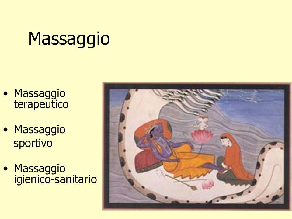 Massaggio Massaggio terapeutico Massaggio sportivo Massaggio igienico-sanitario