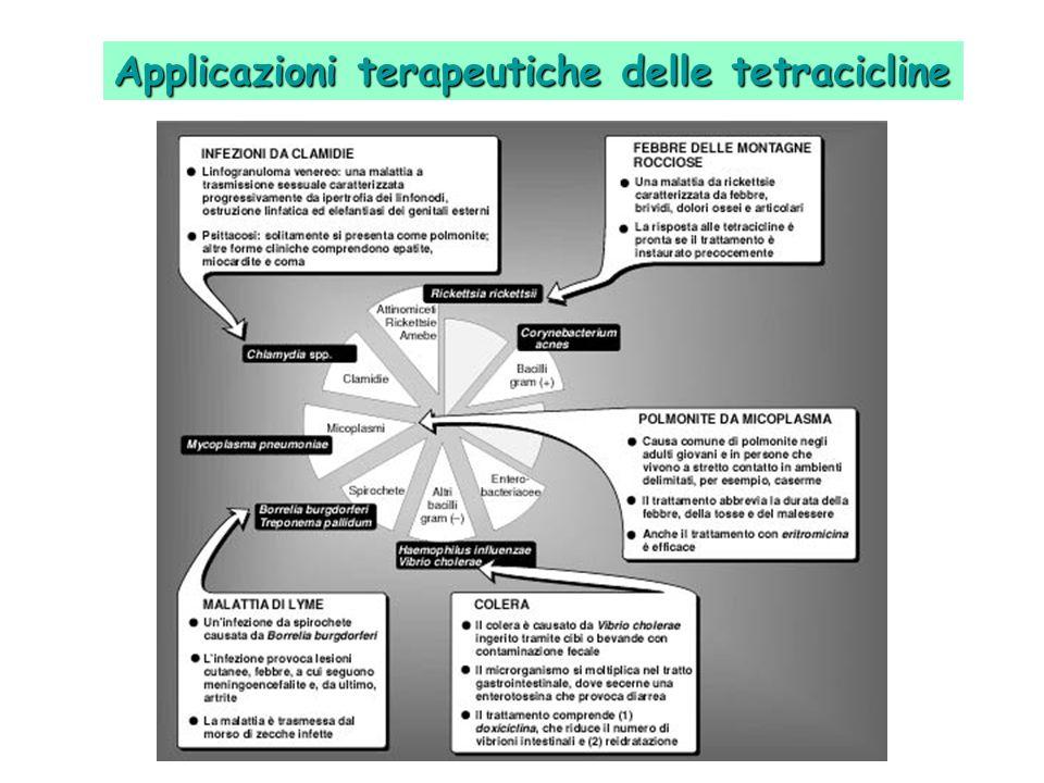 Applicazioni terapeutiche delle tetracicline