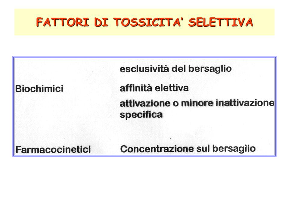 FATTORI DI TOSSICITA SELETTIVA