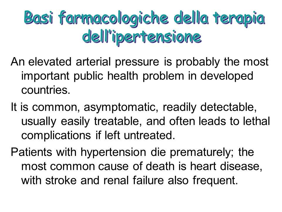 Basi farmacologiche della terapia dellipertensione Basi farmacologiche della terapia dellipertensione An elevated arterial pressure is probably the mo