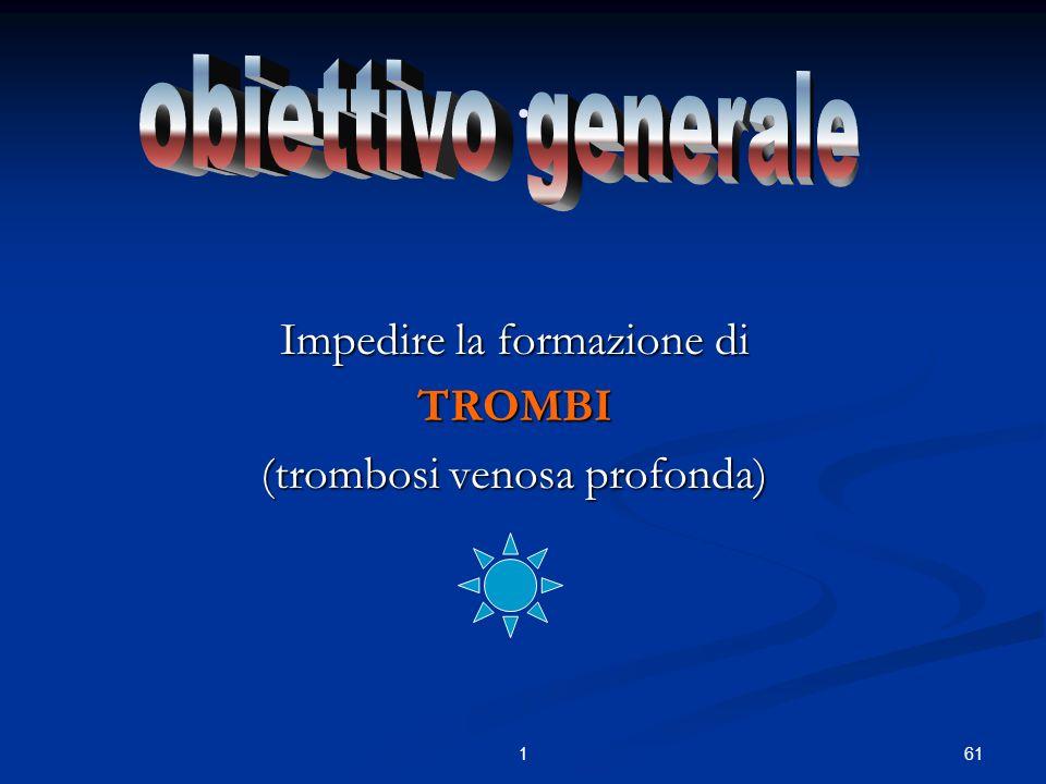 611. Impedire la formazione di TROMBI (trombosi venosa profonda)