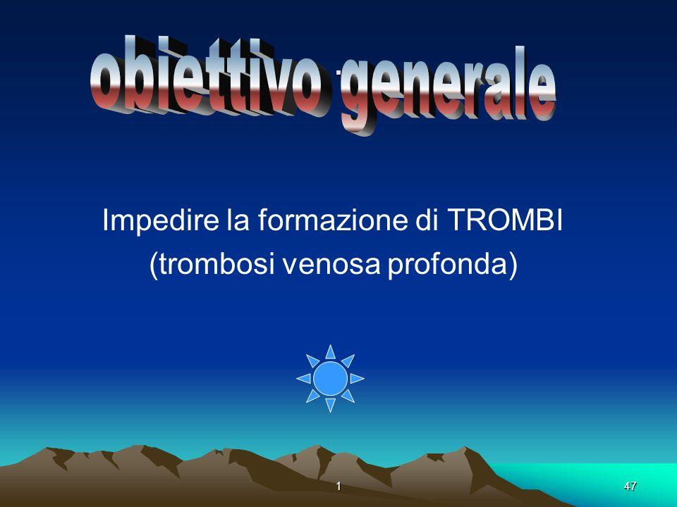 147. Impedire la formazione di TROMBI (trombosi venosa profonda)