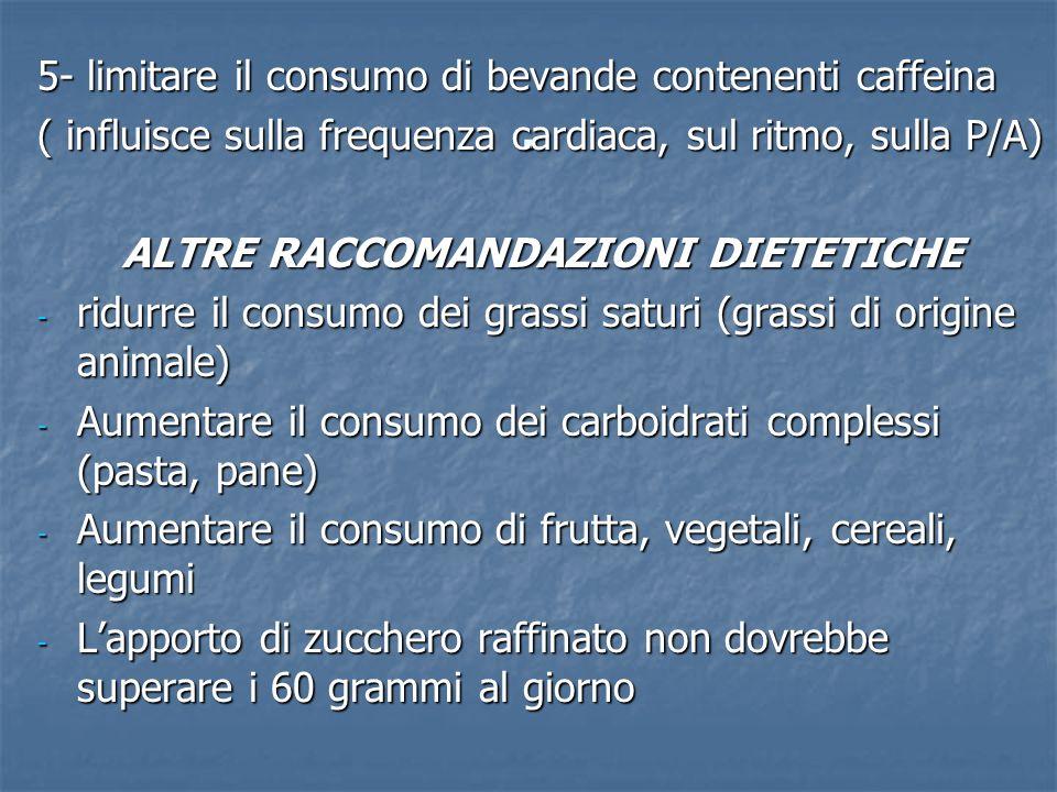 Valutazione finale La ps e i familiari comprendono limportanza di un apporto dietetico modificato La ps e i familiari comprendono limportanza di un apporto dietetico modificato Sanno riconoscere gli alimenti privi di sale Sanno riconoscere gli alimenti privi di sale