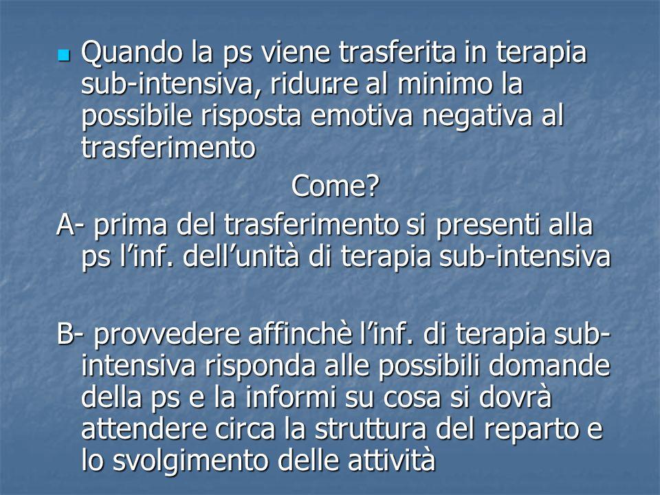 ALTERAZIONE RIPOSO- SONNO IN TERAPIA SUB-INTENSIVA 1.