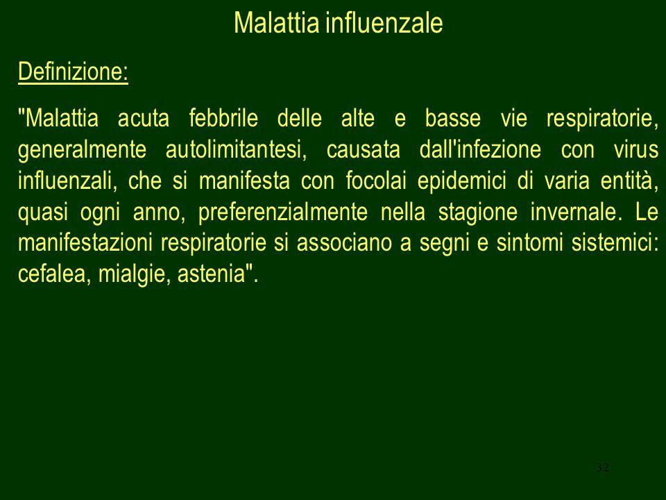32 Malattia influenzale Definizione: