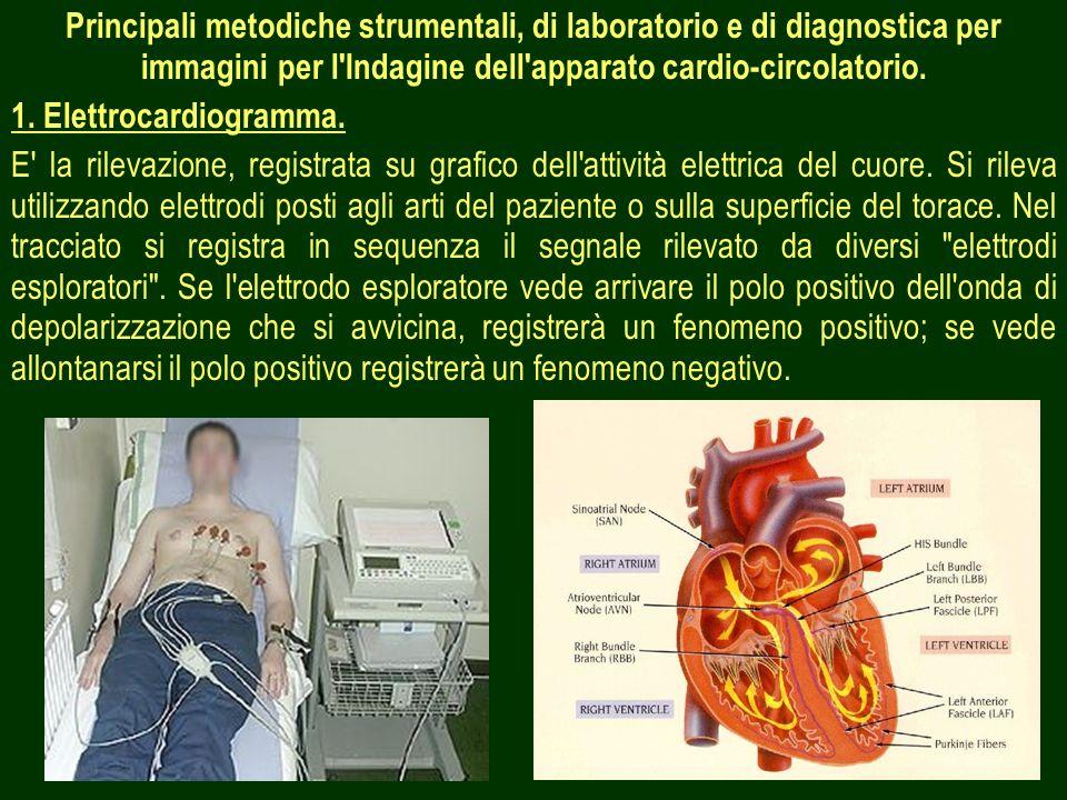 2 Principali metodiche strumentali, di laboratorio e di diagnostica per immagini per l'Indagine dell'apparato cardio-circolatorio. 1. Elettrocardiogra