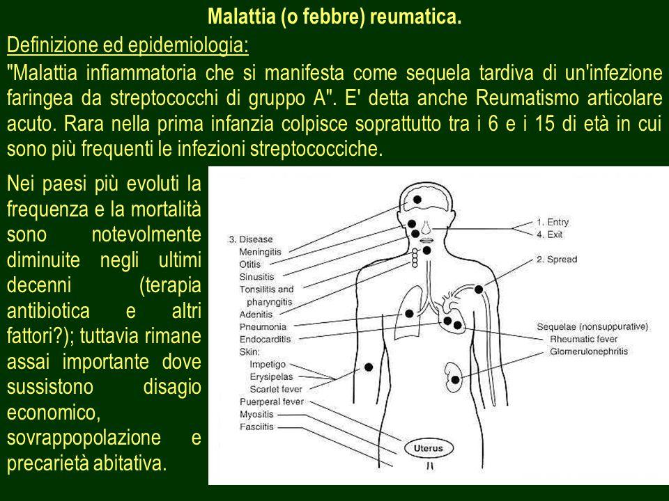 40 Malattia (o febbre) reumatica. Definizione ed epidemiologia: