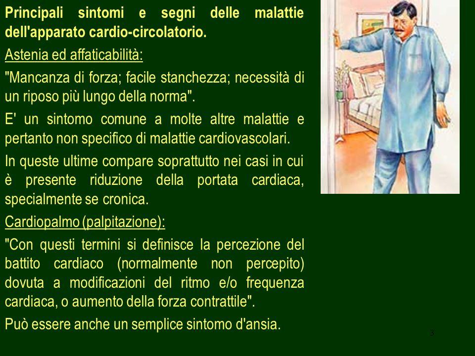 14 Cause vascolari: - Dissecazione aortica; - Embolia polmonare; - Ipertensione polmonare; - Sovraccarico VD.