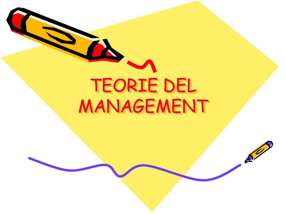 TEORIE DEL MANAGEMENT