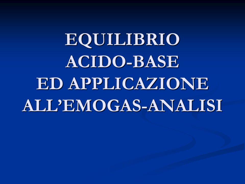 SOMMARIO ASPETTI GENERALI DELLEQUILIBRIO ACIDO-BASE ASPETTI GENERALI DELLEQUILIBRIO ACIDO-BASE EGA (EMOGAS-ANALISI) EGA (EMOGAS-ANALISI)
