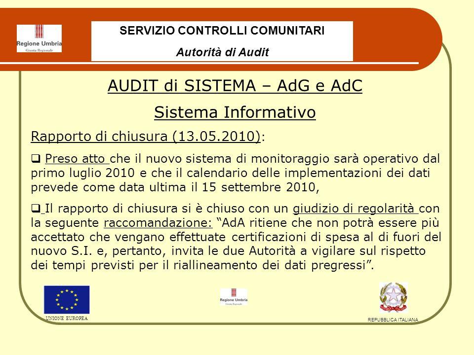 Inviato alla Commissione il 23.12.2009 con parere di regolarità senza riserve, Portata dellesame limitata dallassenza di controlli su progetti e S.I.