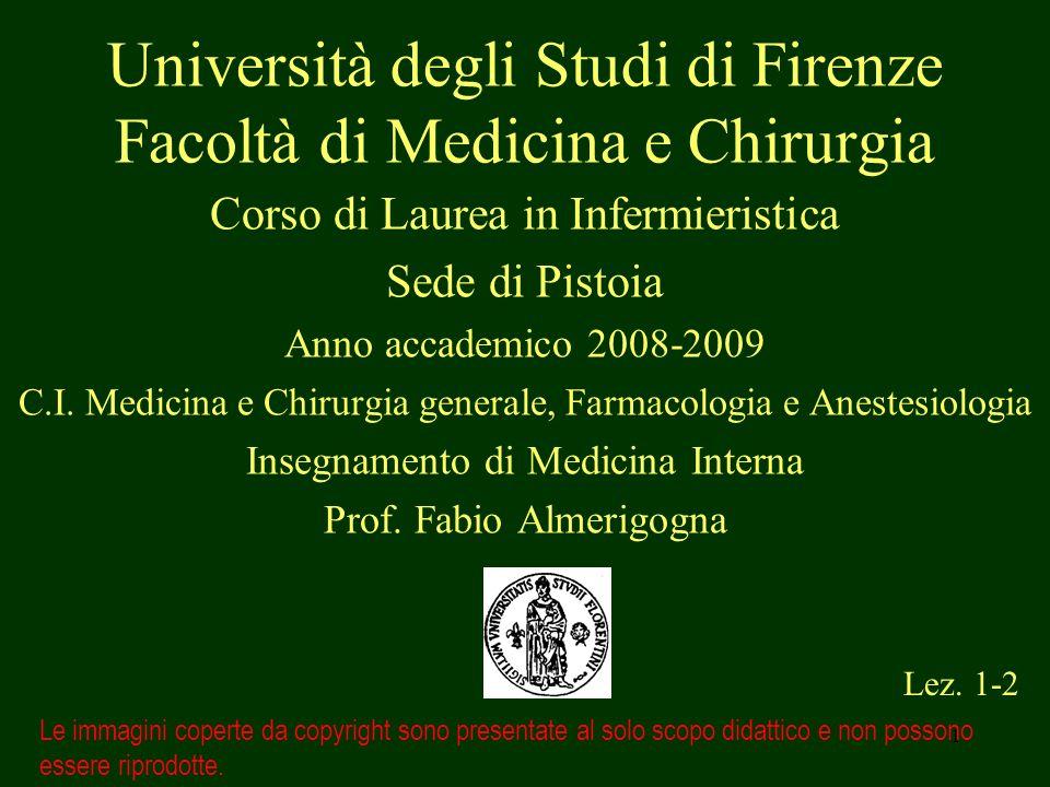 1 Università degli Studi di Firenze Facoltà di Medicina e Chirurgia Corso di Laurea in Infermieristica Sede di Pistoia Anno accademico 2008-2009 C.I.