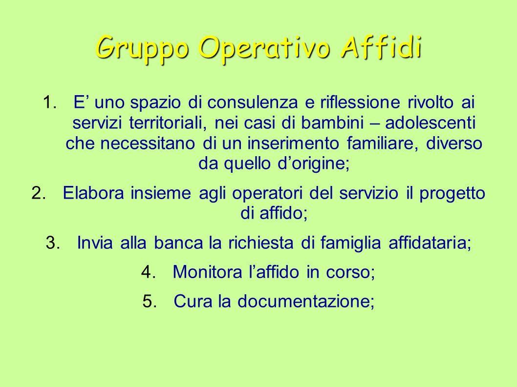Gruppo Valutazioni Famiglie Il Gruppo Valutazione Famiglie valuta le famiglie o le persone che si propongono di accogliere un minore.