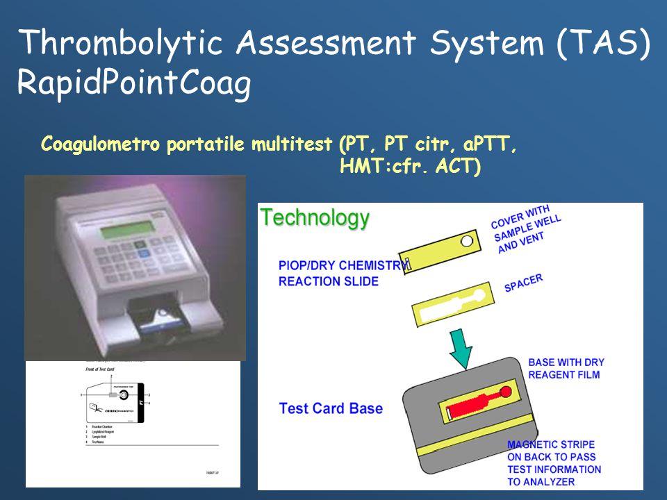Thrombolytic Assessment System (TAS) RapidPointCoag Coagulometro portatile multitest (PT, PT citr, aPTT, HMT:cfr. ACT)
