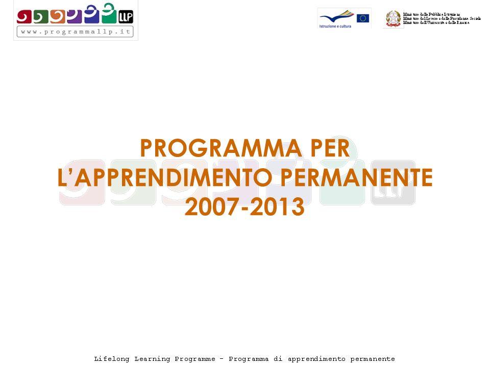 PROGRAMMA PER LAPPRENDIMENTO PERMANENTE 2007-2013