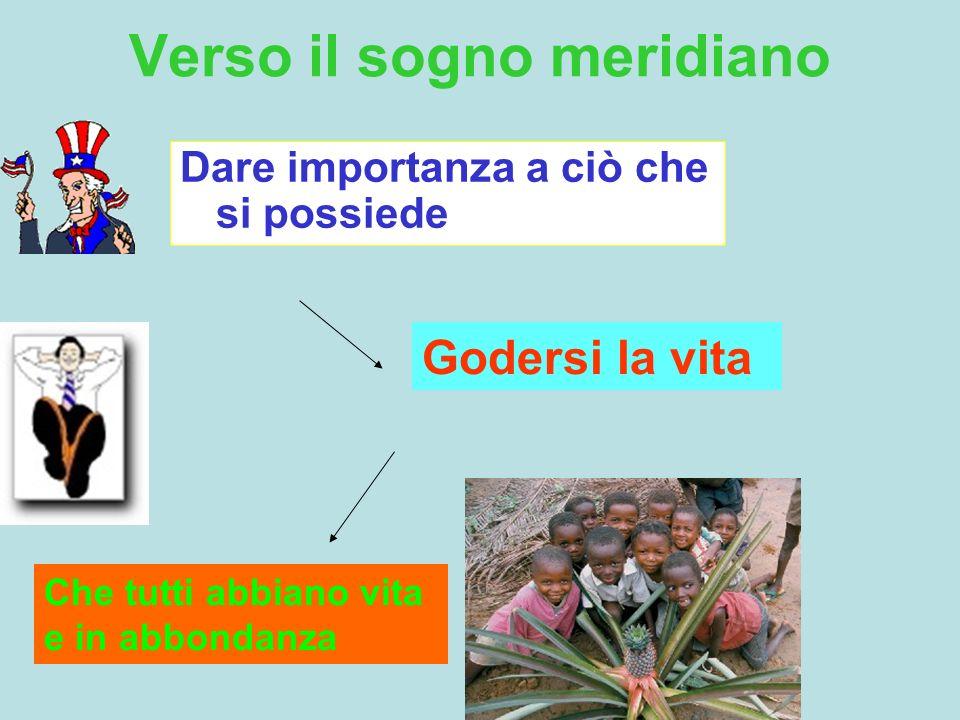 Idee guida dello Sviluppo Meridiano Sviluppo e tutela della persona.
