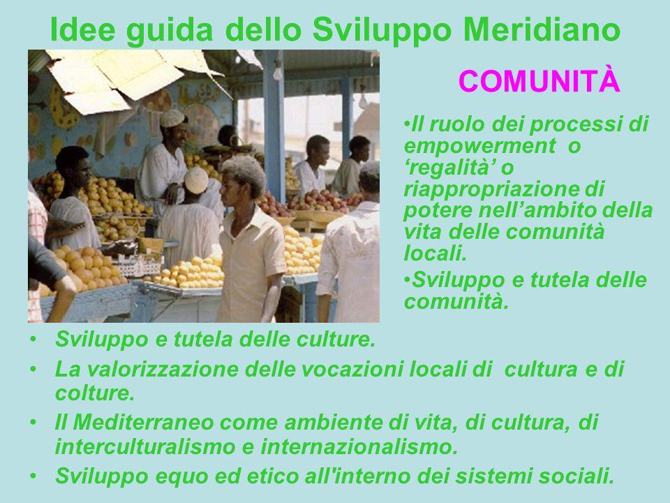Idee guida dello Sviluppo Meridiano Sviluppo e tutela delle culture.