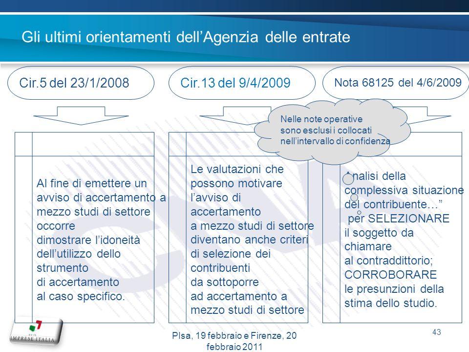 Gli ultimi orientamenti dellAgenzia delle entrate Cir.5 del 23/1/2008Cir.13 del 9/4/2009 Nota 68125 del 4/6/2009 Al fine di emettere un avviso di acce