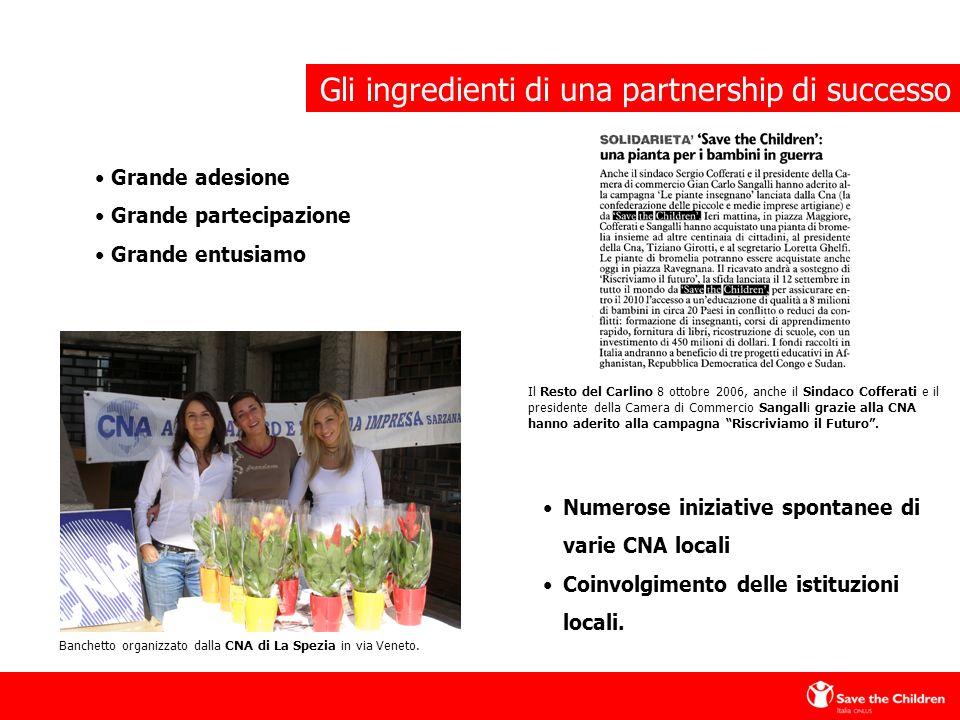 Banchetto organizzato dalla CNA di La Spezia in via Veneto.