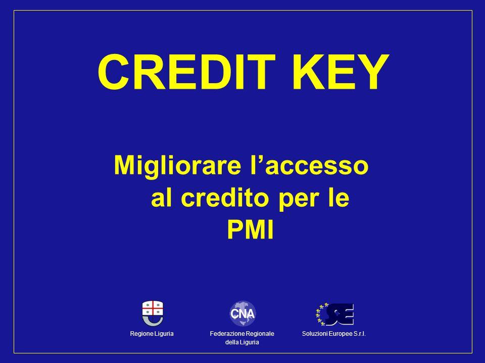 Migliorare laccesso al credito per le PMI CREDIT KEY Federazione Regionale della Liguria Regione LiguriaSoluzioni Europee S.r.l.