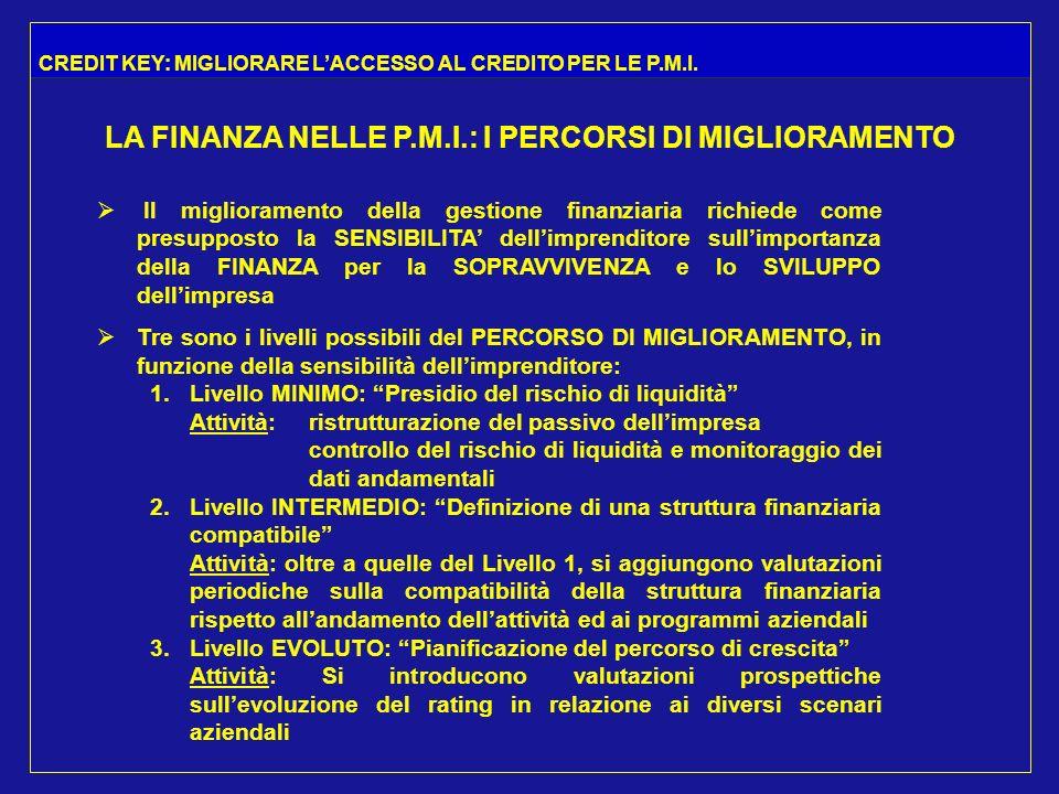 CREDIT KEY: MIGLIORARE LACCESSO AL CREDITO PER LE P.M.I.