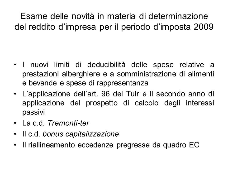 Utilizzo dellagevolazione nel modello UNICO 2010 Il comma 1 dellarticolo 5 del decreto esclude il valore degli investimenti dallimposizione sul reddito di impresa.