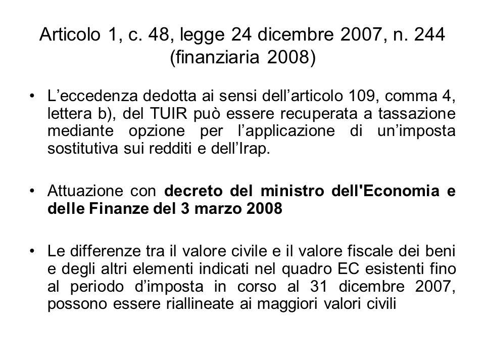 PROSPETTO CALCOLO INTERESSI INDEDUCIBILI Esempio di compilazione Il contribuente può non utilizzare subito tutte le eccedenze di interessi passivi pregresse (50.000).