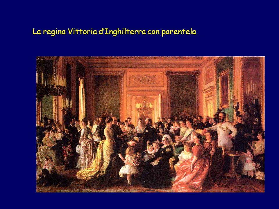 La regina Vittoria dInghilterra con parentela