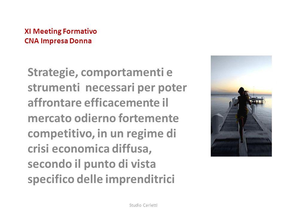 XI Meeting Formativo CNA Impresa Donna Strategie, comportamenti e strumenti necessari per poter affrontare efficacemente il mercato odierno fortemente