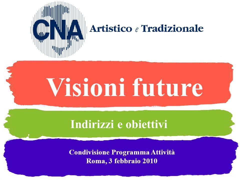 Visioni future Condivisione Programma Attività Roma, 3 febbraio 2010 Indirizzi e obiettivi