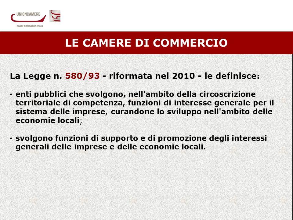 2 LE CAMERE DI COMMERCIO La Legge n.
